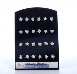 Bemalte Edelweiss-Steckpin d=15mm klein
