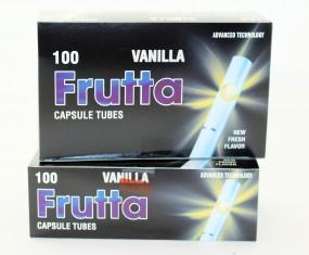 Frutta Hülsen Vanilla mit Klick 5er Gebinde je 100 St
