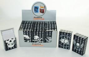 Zigarettenbox Skull Kunststoff 12er Pack