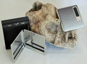 Zigarettenetui mit USB Feuer King Size gemustert