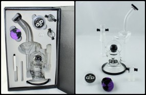 GG Ball Recycler Bong Set Black
