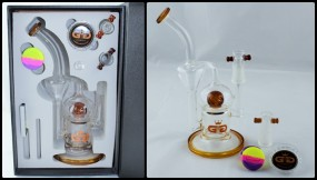 GG Ball Recycler Bong Set Umber
