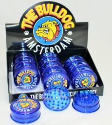 Plastik Grinder Bullgog blue