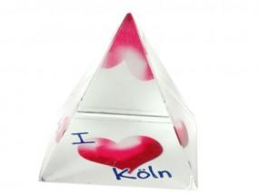 Souvenir Pyramide aus Kristallglas inkl. Bild