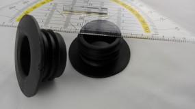 Wasserpfeifen Kolbendichtung schwarz 4cm